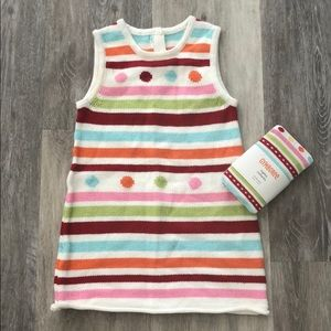 Gymboree Knit dress and tights Set